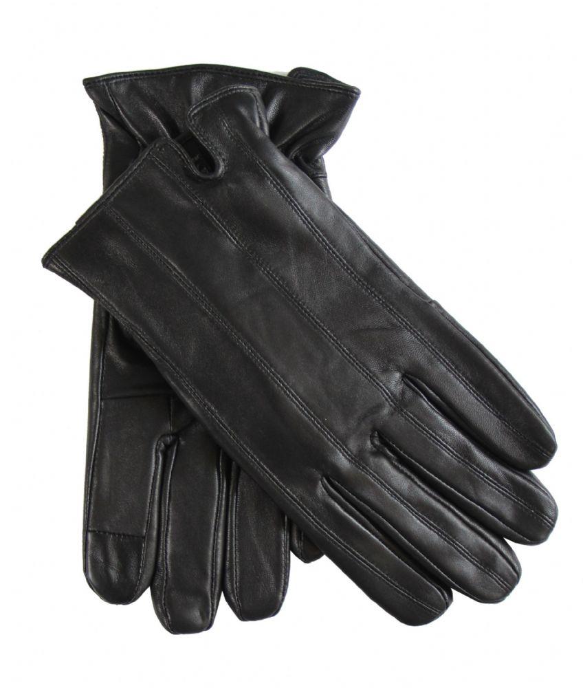 S121-MG6614 Mens genuine leather winter dress driving gloves